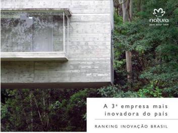 Natura a terceira empresa mais inovadora do Brasil